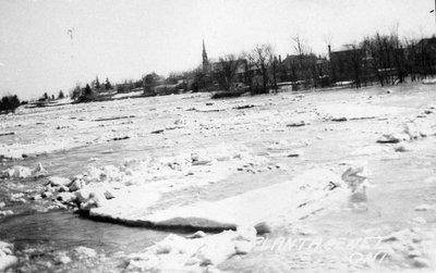 La rivière Nation à la débâcle
