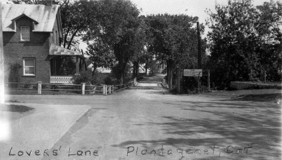 """vue de la """"Lover's Lane"""""""