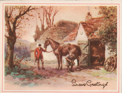 Christmas card from Jim Moore to Eliza J. Padginton