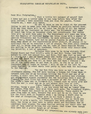 Letter from Lt. Dan L.S. Dudley to Eliza J. Padginton