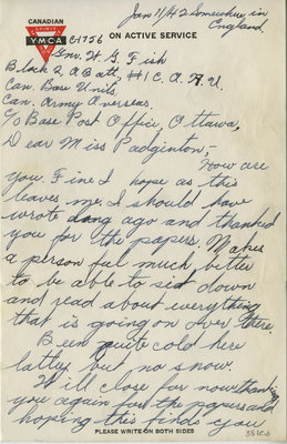 Letter from George Fish to Eliza J. Padginton