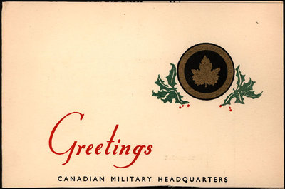 Christmas card from Laurence Henderson to Eliza J. Padginton