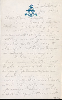 Letter from Doug McCracken to Eliza J. Padginton
