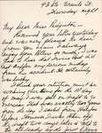 Letter from M. Jean Ludgrove to Eliza J. Padginton