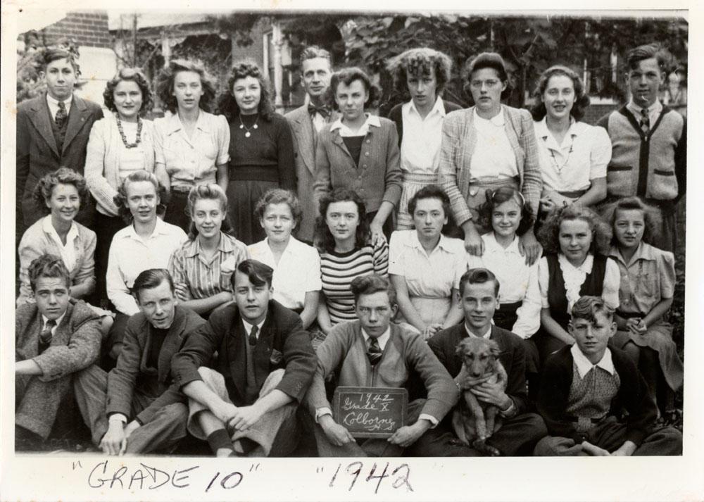 Colborne High School, 1942, Grade 10