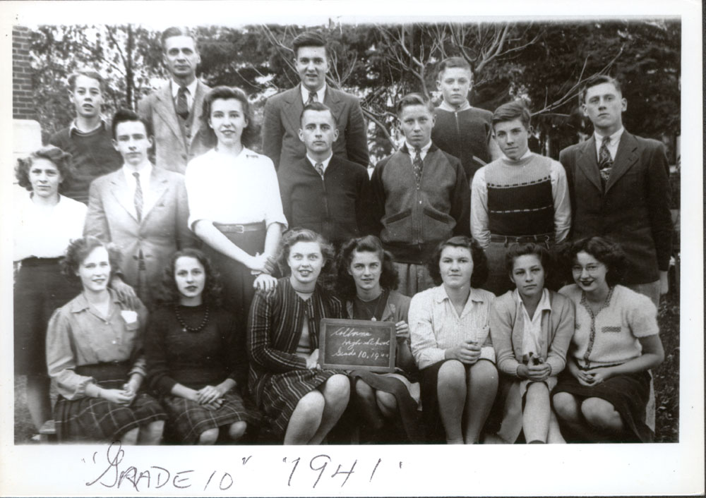 Colborne High School, 1941, Grade 10