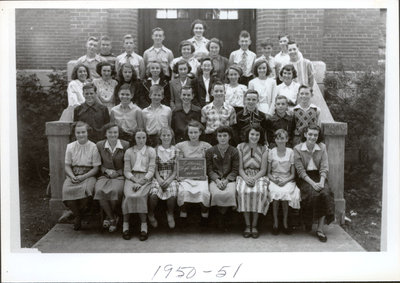 Class photograph, Colborne High School, Colborne, Cramahe Township, 1950-51