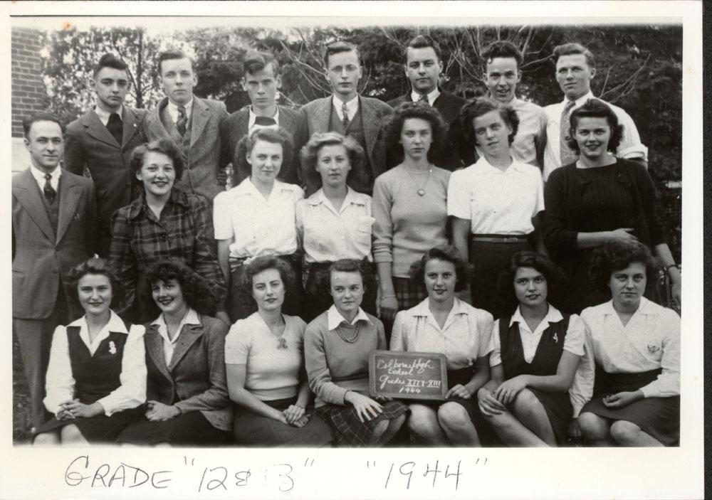Colborne High School, Grade 12 & 13, 1944