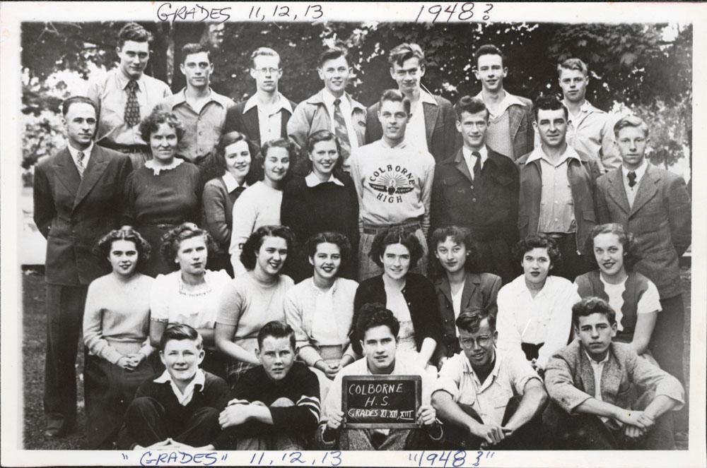Colborne High School, 1948?, Grades 11, 12 & 13