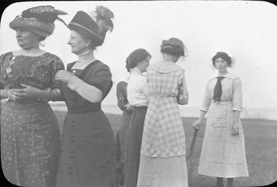 Women at the lakefront
