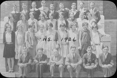 Class photograph, Colborne High School, 1926
