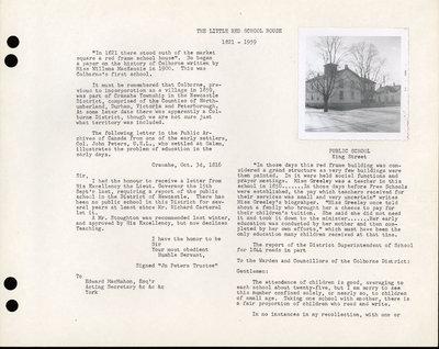 Colborne Women's Institute Scrapbook