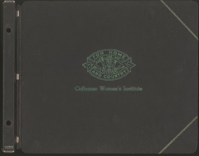 Colborne Women's Institute Scrapbook