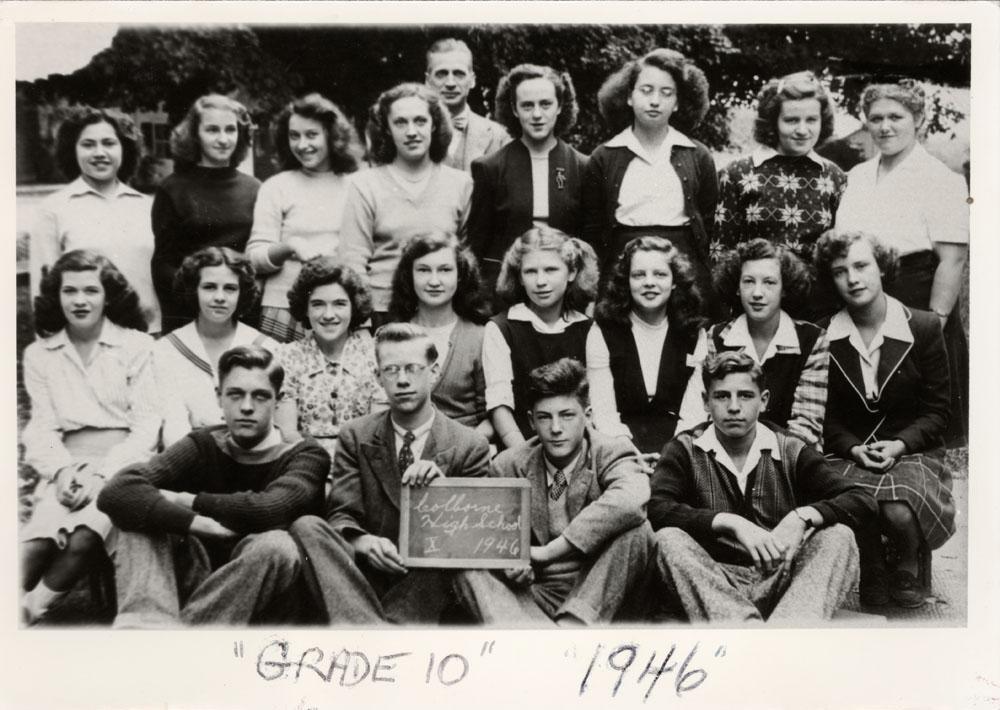 Colborne High School, 1946, Grade 10