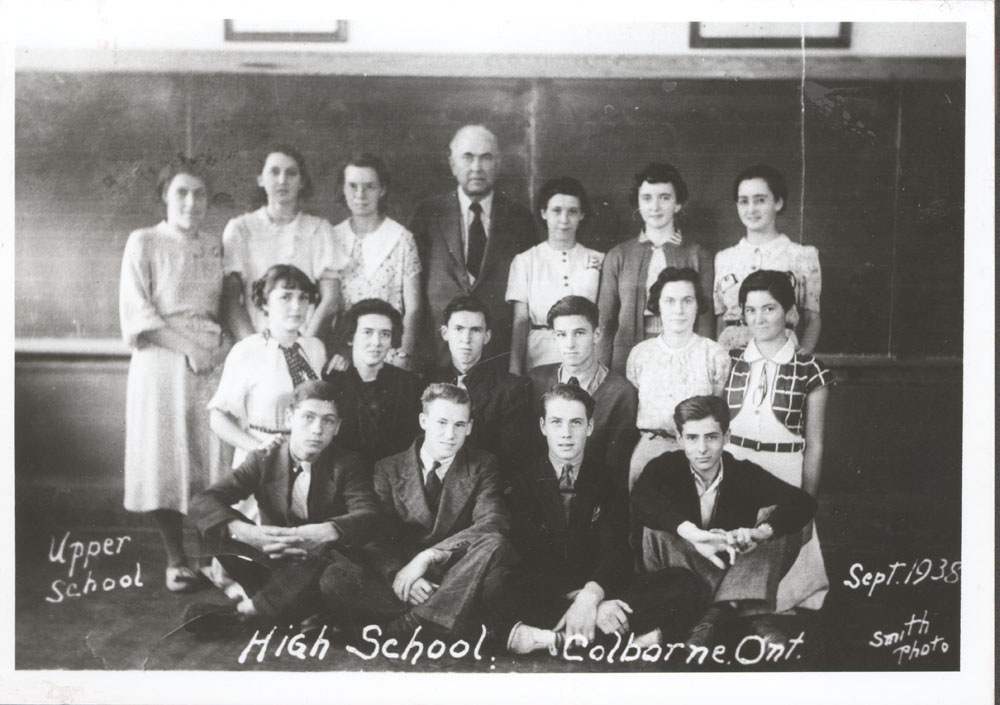 Upper School, High School, Colborne Ont., September 1938, Smith Photo