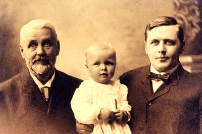 Reproduction photograph, George Merriman, George Allan Merriman, and Vinton Merriman
