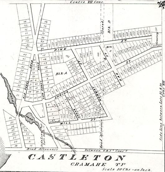 Castleton Map, Illustrated Historical Atlas
