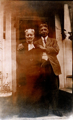"Reproduction photograph, Annie E. ""Tottie"" Merriman McColl and John ""Jack"" Monroe Black"