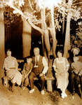 Reproduction photograph of Hattie E. Kerr, Harry Kerr, Robert Kerr, Winnie M. Black, Robert Byrne Kerr, and James Ralph
