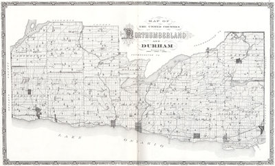 Northumberland and Durham Map, Illustrated Historical Atlas