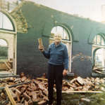 Vinton M. Merriman at Grand Trunk Railway Station / Canadian National Railway Station demolition site, 1972