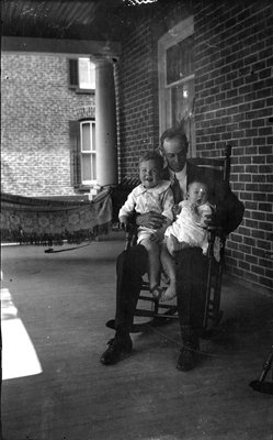 Frank Griffis with ?his children