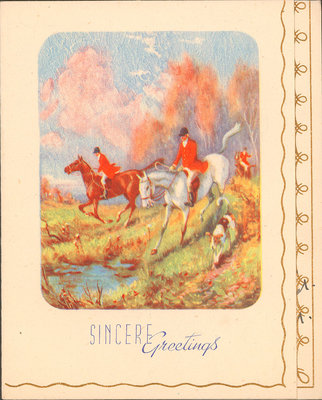 Christmas card from George Waller to Eliza J. Padginton.