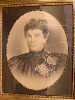 Studio portrait of Mrs. Sarah Ashby Rice