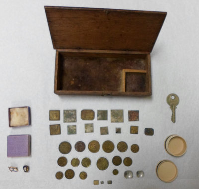 Dispensing Weights & Pins Storage Box, Griffis Drug Store, Colborne, Cramahe Township