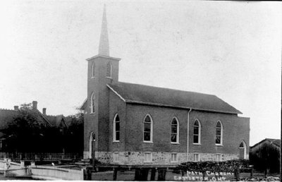 Postcard of Castleton United Church, Cramahe Township