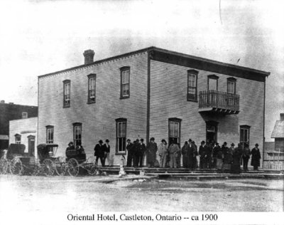 Photograph of the Oriental Hotel, Castleton, Cramahe Township