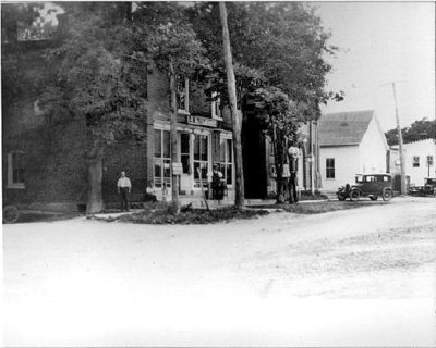 Photograph of G.B. Tait's store and Castleton Town Hall, Cramahe Township