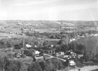 Aerial photo of farm near Colborne