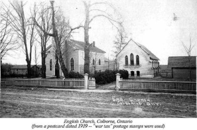 Postcard of Trinity Anglican Church, Colborne, Cramahe Township