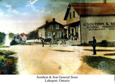 Postcard of G. Southon & Son General Store, Lakeport