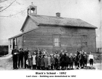 Photograph of Black's School, School Section 14, Cramahe Township, 1892
