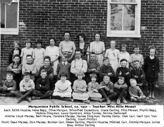 Morganston Public School, ca. 1921