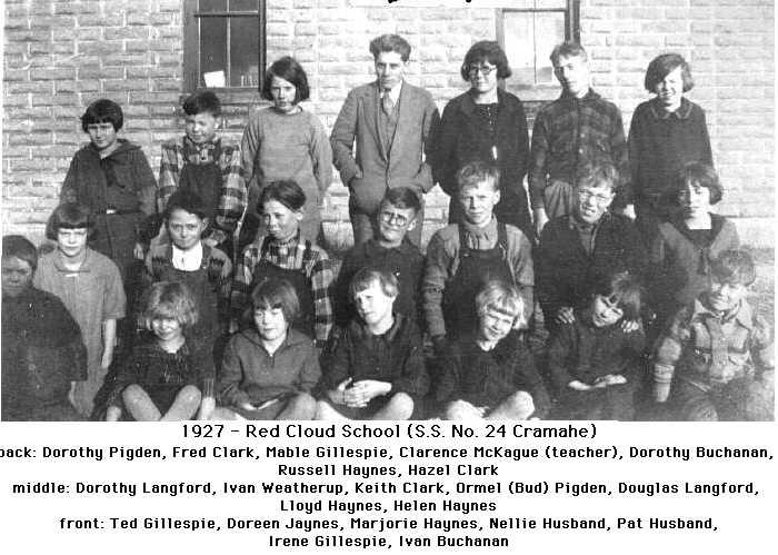 Red Cloud School, S.S.24, 1927