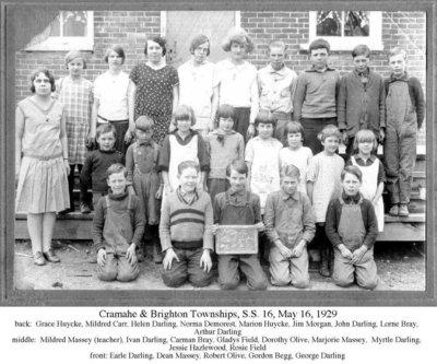 Cramahe & Brighton Township School, S.S.16, 16 May 1929
