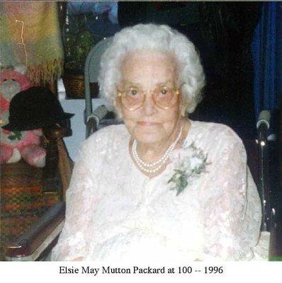 Elsie Mutton Packard, 1996