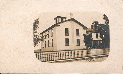 Postcard of the Former Continuation School, Colborne, Cramahe Township