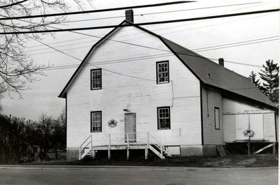 Photograph of a former apple storage house, Earl and Division streets, Colborne, Cramahe Township