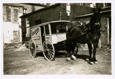 Rowsome's Bakery horse drawn wagon, Colborne