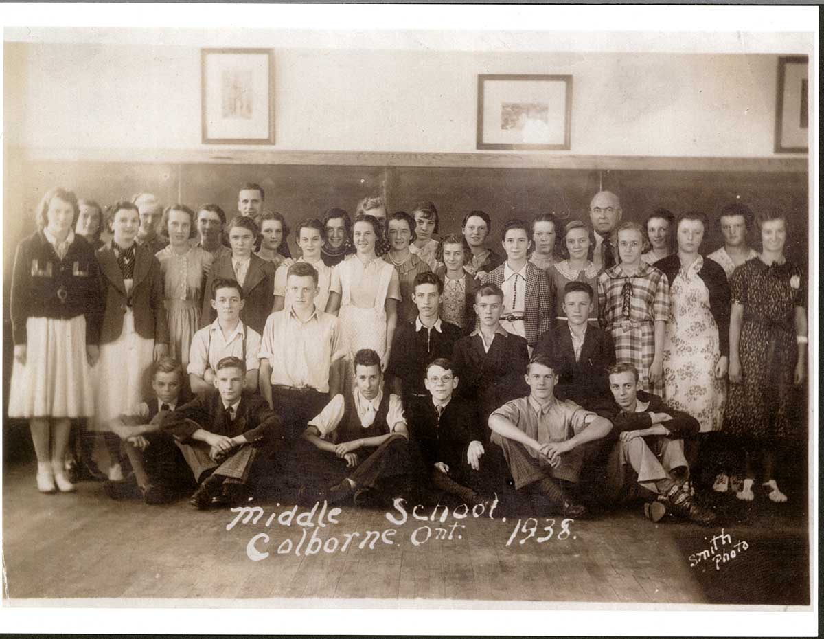 Middle School, Colborne, Ontario, 1938