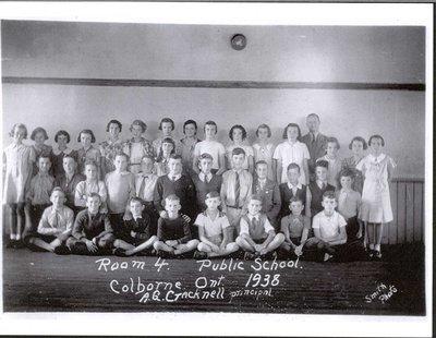 Colborne Public School, Room 4, 1938