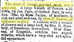 Miss E. Grover, Upper Canadian Provincial Exhibition, The Globe, 25 September 1866 - photocopy newspaper clipping