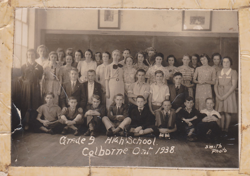 Grade 9, High School, Colborne Ont., September 1938, Smith Photo