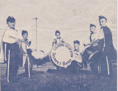 Exhibit, Colborne Recreation Trumpet Band & Baton Corps brochure, centre right