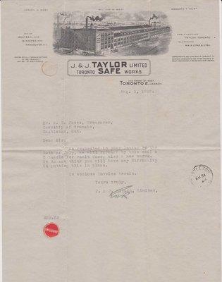 Vault Parts Invoice, Cramahe Council Accounts, 1 August 1928
