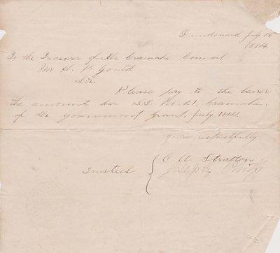 Cramahe Municipal Payments, School Salaries, 1884
